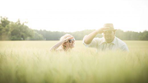 Hochzeitsfoto im Feld Schondorf am Ammersee