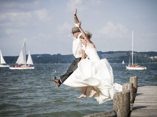 Hochzeitsfoto Ammersee Steg