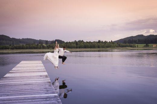 Hochzeitfoto am Ammersse Steg